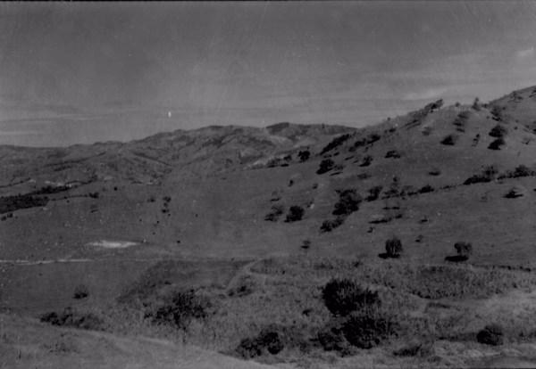 Relevo ao sul de Lindoia, vendo-se pastos (SP) - 1958
