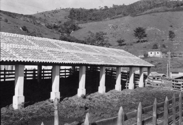 Curral de gado na fazenda São João da Barra Mansa : Município de Itapira (SP) - s.d.