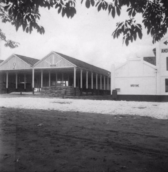 Algodão secando numa das áreas da Fábrica Anderson Clayton Cia. Ltda. em Rancharia (SP) - 1960