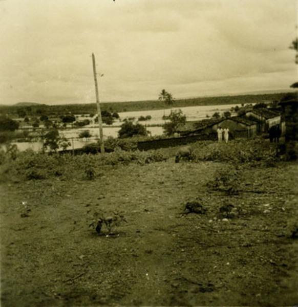 Vista parcial da cidade : Paramirim, BA - 1957