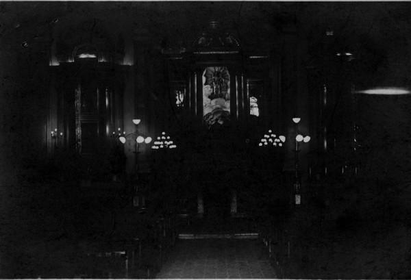 Vista interna da Igreja Matriz Nossa Senhora da Purificação : Santo Amaro, BA - [19--]