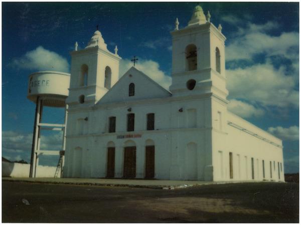 Igreja Matriz de Santo Anastácio : caixa d'água Cagece : Tamboril, CE - [19--]