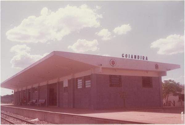 Estação ferroviária : Goiandira, GO - 1984