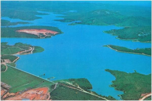 [Vista aérea da] Barragem de Vargem das Flores : Contagem, MG - [19--]