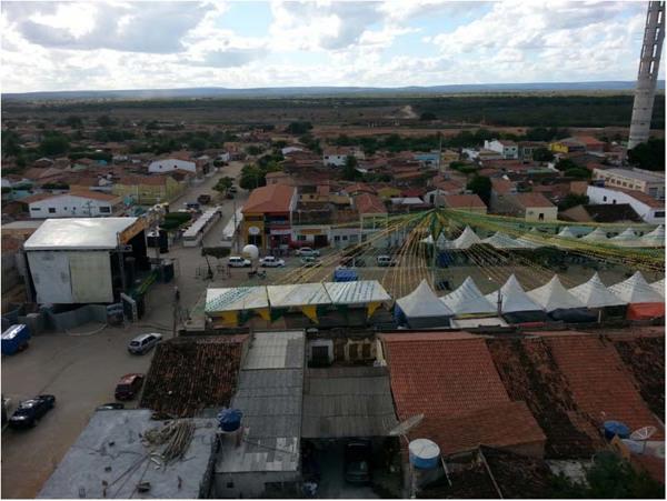 Vista [panorâmica da cidade] : Praça de Eventos : Inajá, PE - 2014
