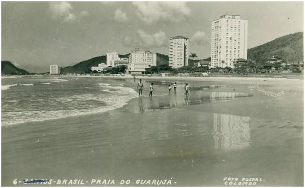 Praia das Pitangueiras : Guarujá, SP - [19--]