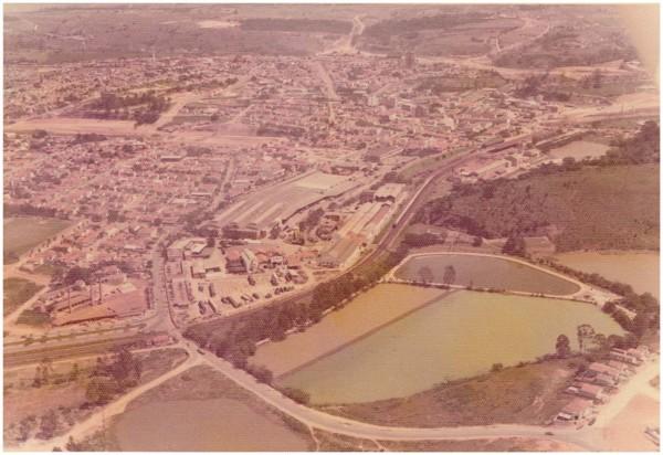 Vista aérea [da cidade] : Valinhos, SP - 1976